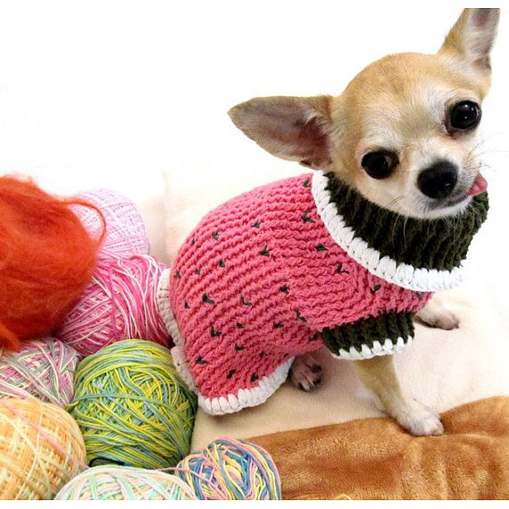 Strawberry Dog Clothes Turtle Neck Sweater Knit Pink Olive Cotton DK861Myknitt - Free Shipping