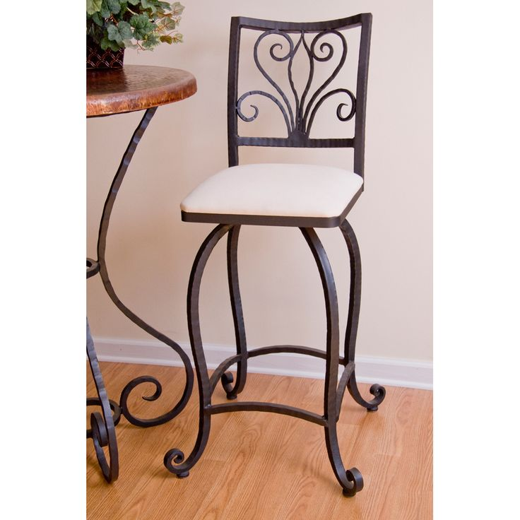 Alexander Wrought Iron Bar Stool by Mathews & Company