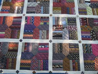 cool t shirts Quilt made out of men39s ties  Glorious Quilts