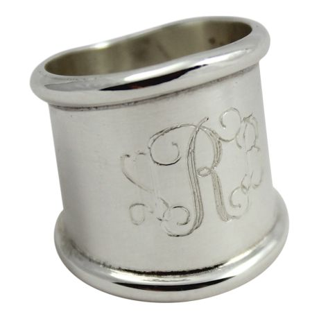 "This classic sterling silver monogrammed cigar band ring will become your classic favorite. Please enter your monogram for your cigar band ring in the order you wish for it to appear, traditionally, a monogram is in this order: first, last, middle. Example for Amy Elizabeth Smith, you would order ""ASE"" with the initial for Smith in the middle. As this is a custom item, your cigar band ring may take up to 3 weeks to create. This does not include shipping time. All monogram jewely..."