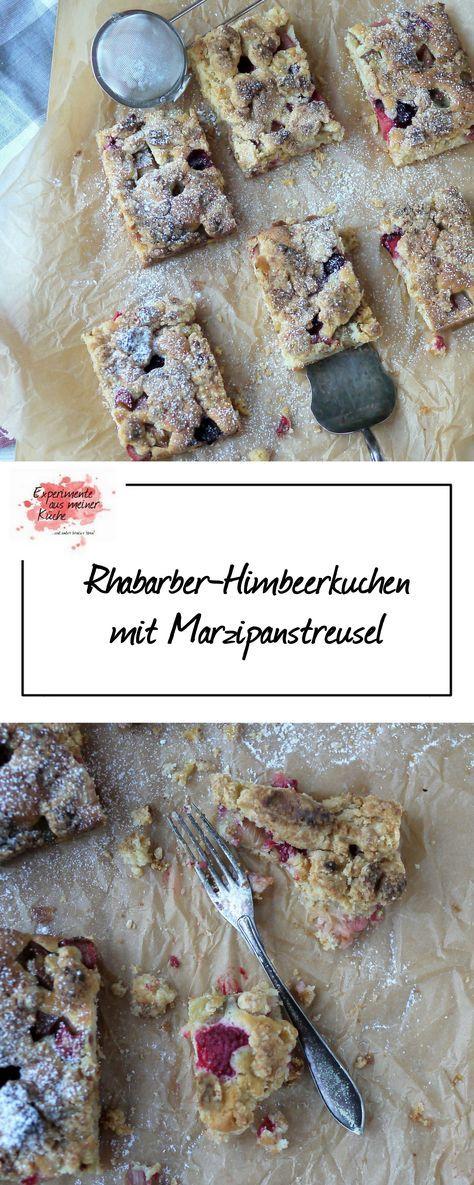 Experimente aus meiner Küche: Rhabarber-Himbeerkuchen mit Marzipanstreusel