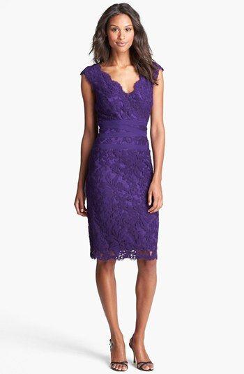 This would make a gorgeous Bridesmaid Dress. - I love, love, love it!!!!   Tadashi Shoji Lace & Tulle Sheath Dress | Nordstrom