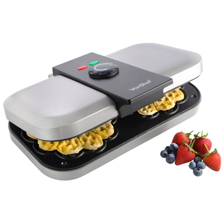VonShef Double Waffle Maker Non-Stick with Thermostat Control
