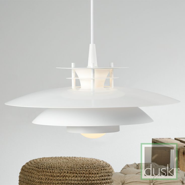 Nordlux LD 240 White Glass Pendant Light with Coloured Rings - LD240301