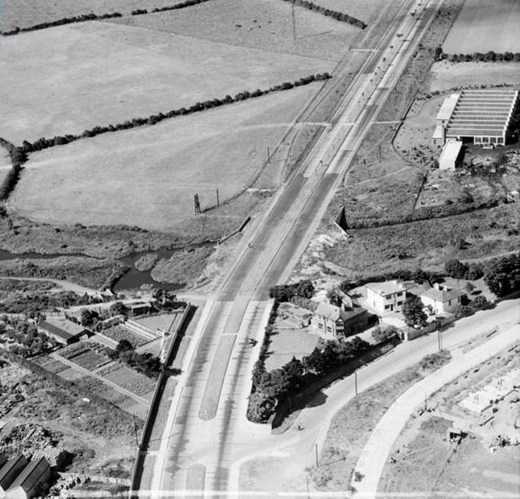 Naas road Bluebell at the junction of old Bluebell road, 1952