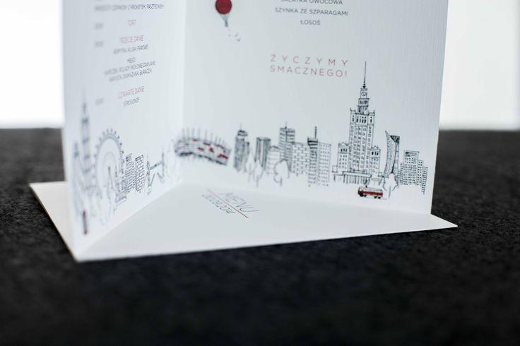 Menu, dodatki ślubne dostosowane do stylistyki zaproszenia, ręcznie rysowane elementy: daa.pl/hy5D