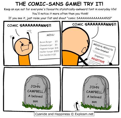 Comic Sans rage :)))