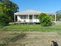 Property for sale has got 3 bedrooms with polished floors, a kitchen, lounge and front verandah.