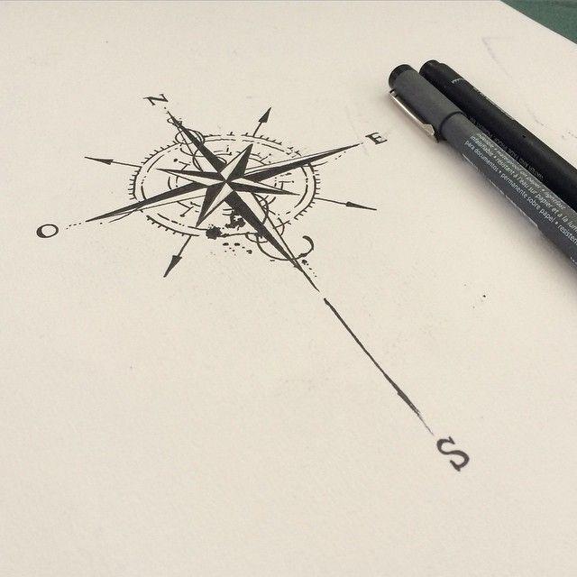 Rosa-dos-ventos #desenho #tattoo #projet #love it                                                                                                                                                      Mais