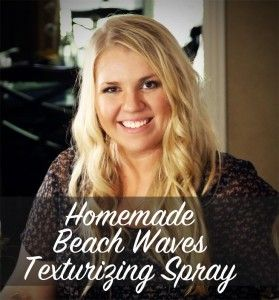 DIY Beach Waves Hair Spray by one of my favorite ladies to learn from, Wellness Mama.