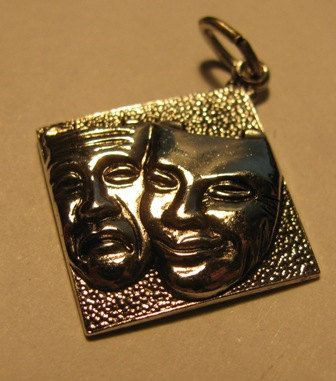 Sterling Silver Comedy and Tragedy Theater by TheIDconnection, $25.00