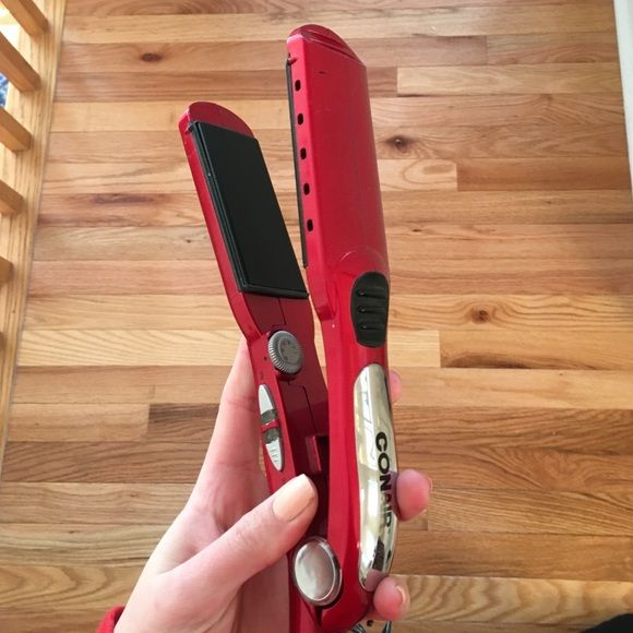 red conair hair straightener used for about a year, still has a long of life left! Makeup Brushes & Tools