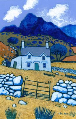 blue house in country Chris Neale