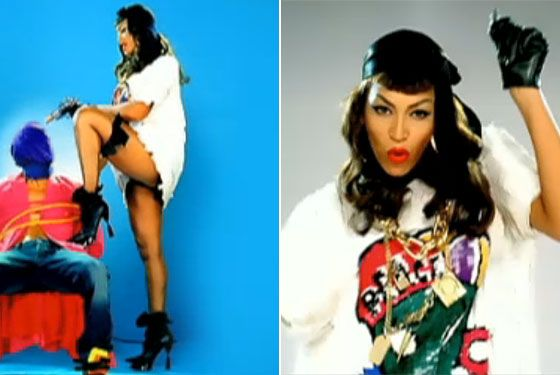 Beyonce doing hood Bettie Page