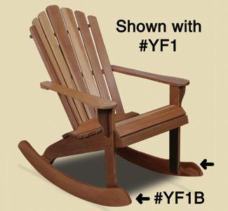 Adirondack Chair Plans Adirondack Rocker Rail Pattern Convert our comfortable adirondack chair into a r...