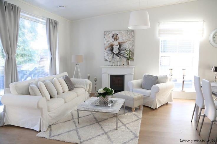 Loving white style: Olohuoneen uusi ilme!