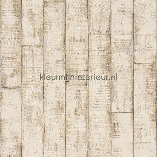 Robuuste planken behang 854312, Aqua Relief IV van Rasch