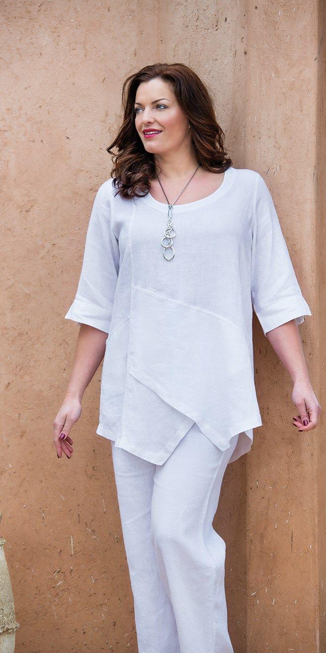 Kasbah white linen pocket top at Box 2....shops in the UK