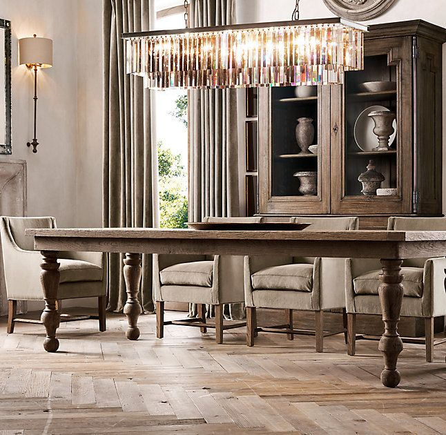 25 best ideas about rectangular chandelier on pinterest for Restoration hardware dining room ideas