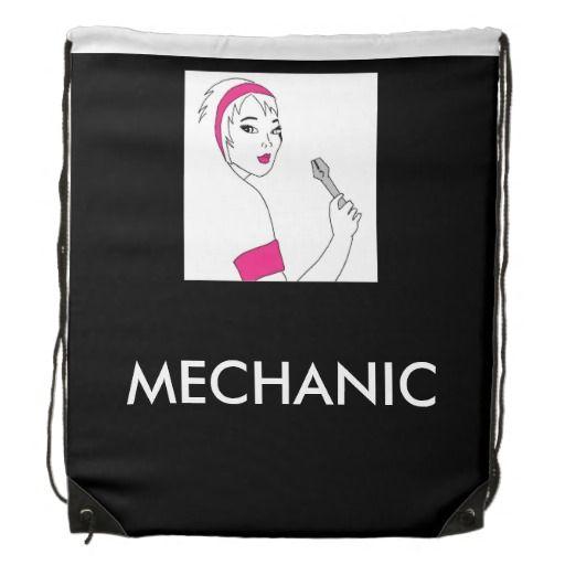 Vehicle Repair Female Mechanic Drawstring Bag available here:http://www.zazzle.ca/vehicle_repair_female_mechanic_drawstring_bags-256383582087454295?CMPN=addthis&lang=en&rf=238080002099367221 $17.95 #femalemechanic #girlpower