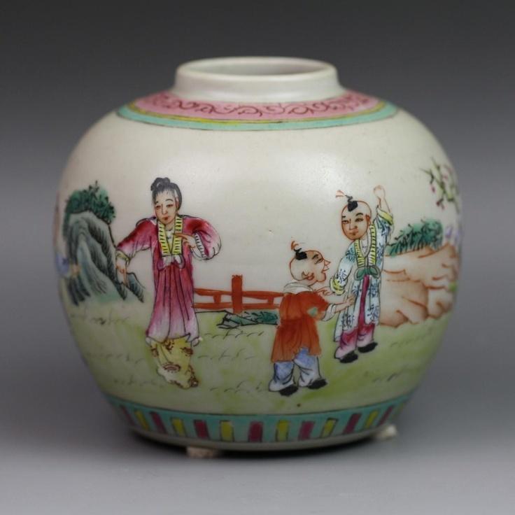 chinese famille rose porcelain ginger jar chinese. Black Bedroom Furniture Sets. Home Design Ideas