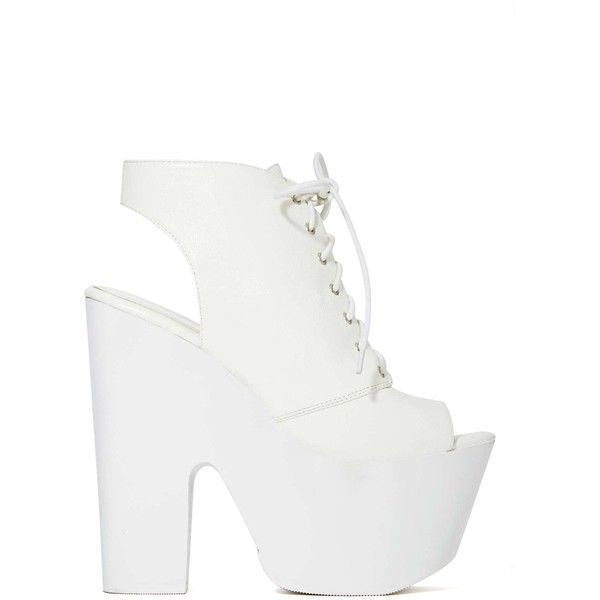 Shoe Cult Rising Up Platform Sandal (185 RON) ❤ liked on Polyvore featuring shoes, sandals, heels, boots, high heels sandals, white heeled sandals, platform sandals, high heeled footwear and black sandals