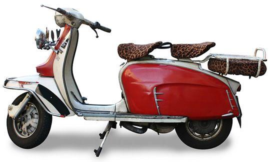vintage motor scooter