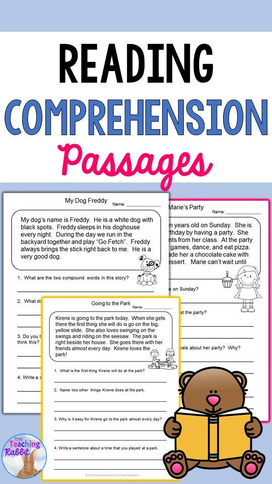 Reading Comprehension Passages and Questions – The Teaching Rabbit