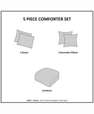 Urban Habitat Paloma Full/Queen 5 Piece Cotton Comforter Set Bedding