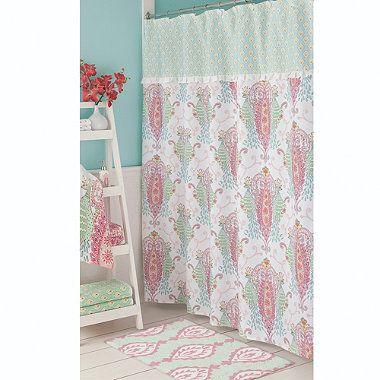 Bardwill Linens Dena Peacock Shower Curtain - BedBathandBeyond.com