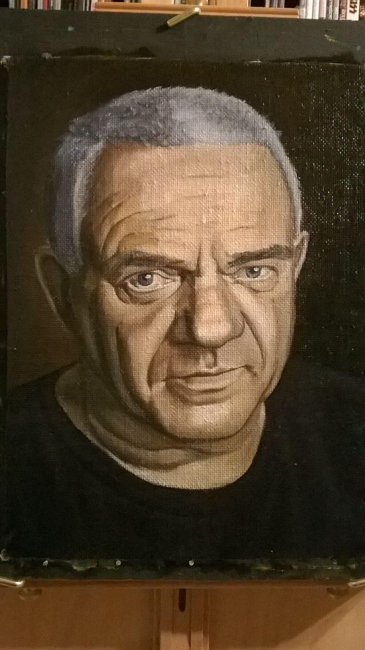 Портрет Удо Диркшнайдера с фотографии. Udo Dirkschneider portrait from a photo.