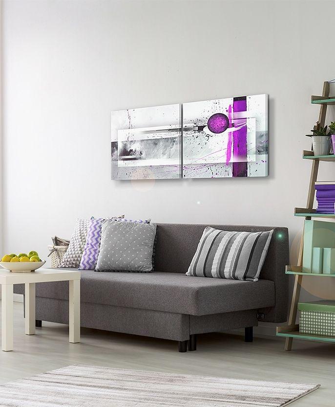 """Cuadro decorativo """"Violeta emocionante"""" es un cuadro muy simple, pero llama atención. Con sus acentos de color expresivo es ideal para los interiores de un solo color ツ"""