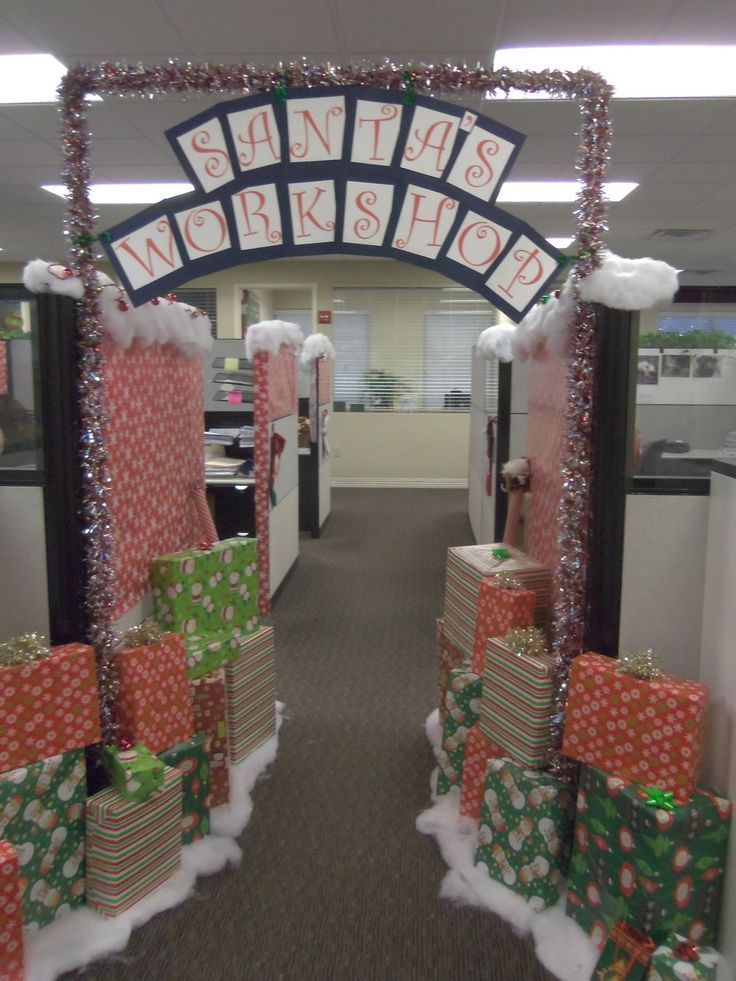 1000 images about cubicle decorating on pinterest for Xmas office design