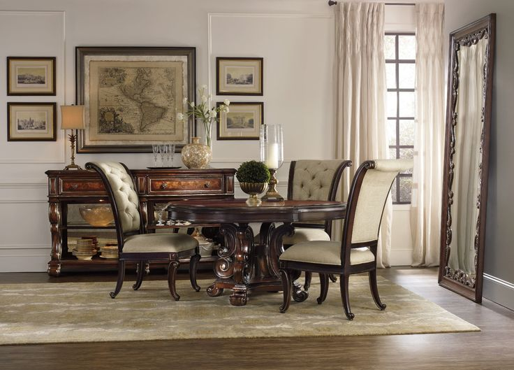 Hooker Furniture Grand Palais 60in Round Pedestal Dining Table 5272 75203