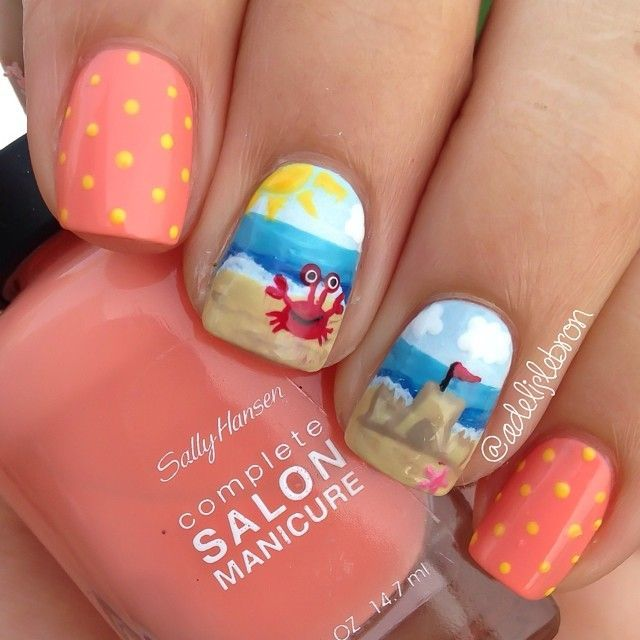 Summer Nail Art Designs 2015 18 Beach Nail Art Designs