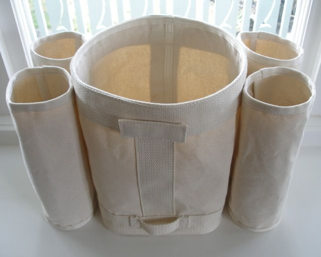 square shelf storage bag and cylinders