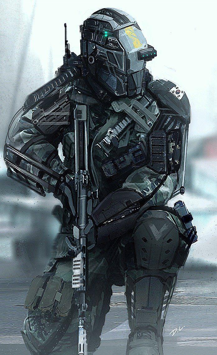 Dyna-Tec Industries South Korean Soldier, Dom Lay on ArtStation at https://www.artstation.com/artwork/dyna-tec-industries-south-korean-soldier