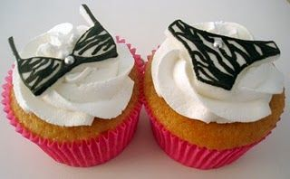 Animal Print Lingerie Cupcakes!