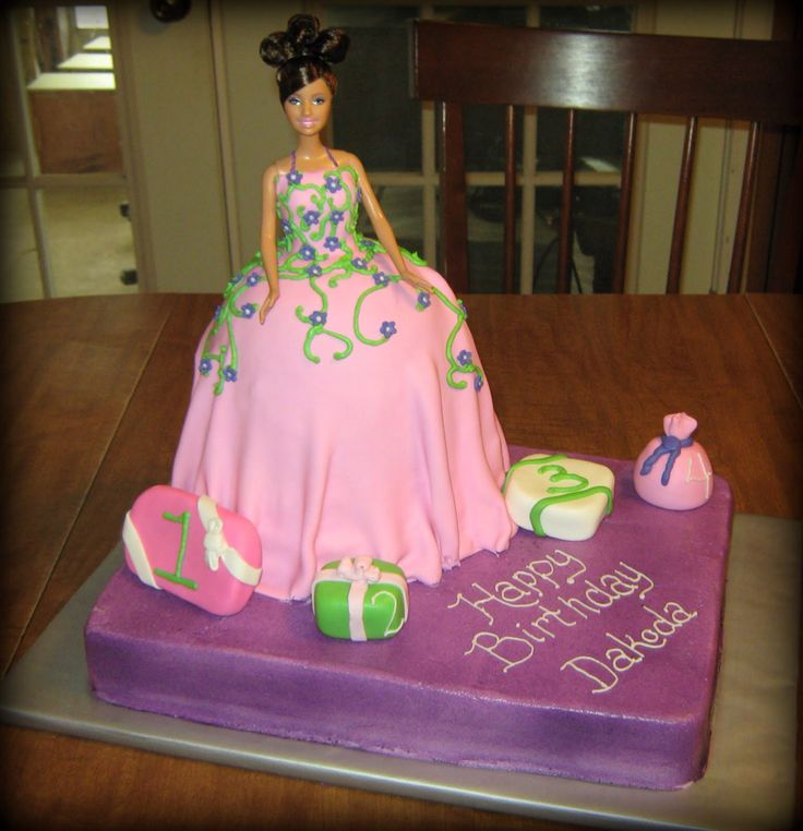 Best Barbie Birthday Cakes Images On Pinterest Birthday Cakes - Birthday cake doll designs