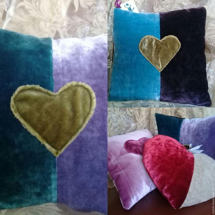 Купить Подушка - комбинированный, подушка, подушка декоративная, подушка на диван, подушка в подарок, подушка на заказ