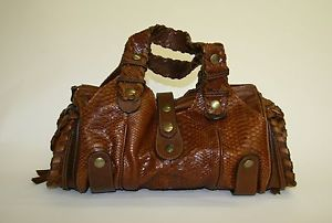 Chloe Brown Python Leather Large Silverado Shoulder Handbag | wow ...