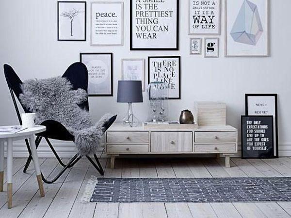 #Typografia prezentowana na #plakatach to element typowy dla #wystroju #wnętrz w #stylu #skandynawskim