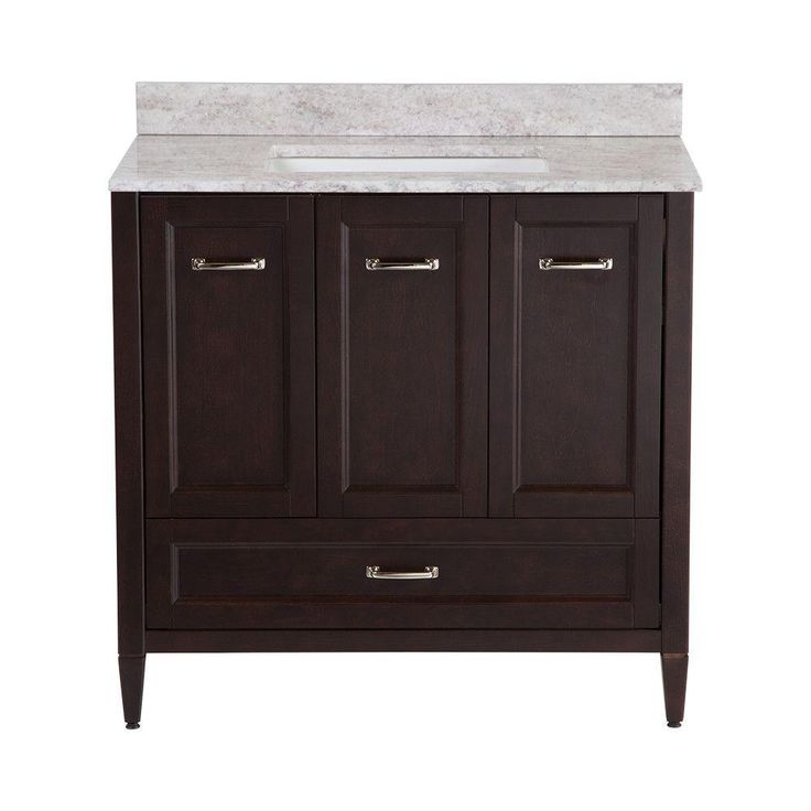 Home Decorators Collection Claxby 36 In Vanity In Chocolate With Stone Effect Vanity Top In