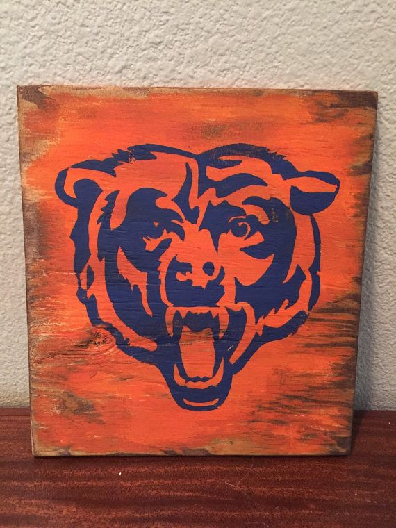 Chicago Bears home decor by SouthernPineappleCH on Etsy