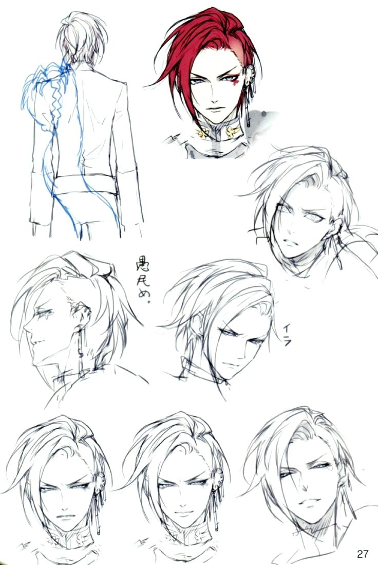 Anime Hairstyles Male Braided Drawing Hairstyles Braid Profile Bun Male Boy Free Anime Art Manga Drawing Guy Drawing Drawings