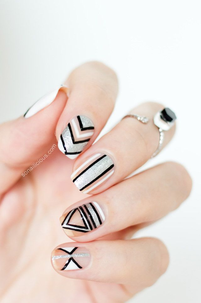 Negative Space Party Nails: http://sonailicious.com/new-years-party-nails/