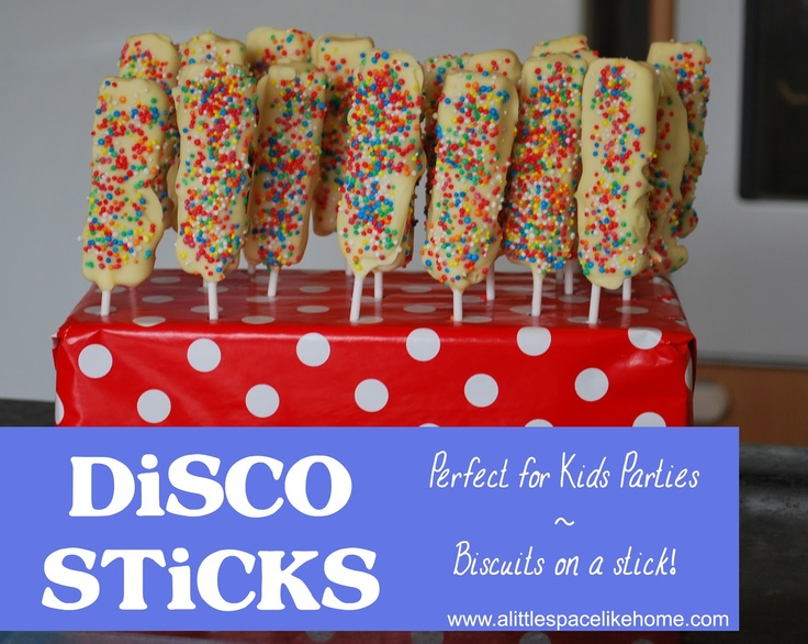 A little Space like Home: Recipe :: Kids Party Food ~ Disco Sticks