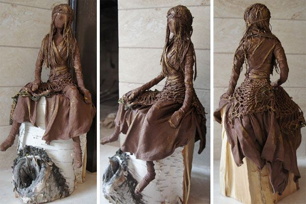 Image detail for -... 10″ high (approx) • Paverpol Fabric Hardened Sculpture/Figurine