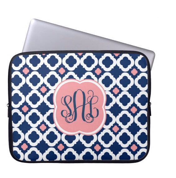 Personalized Laptop Sleeve, Monogram Laptop Case - MacBook Sleeve- Choose Colors by LoveyDoveyCreations on Etsy https://www.etsy.com/listing/197656924/personalized-laptop-sleeve-monogram