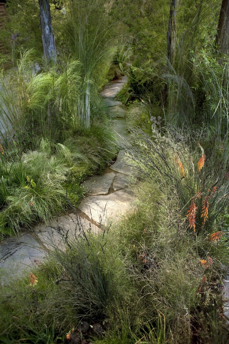 nice green path Greenlee & Associates, Rock & Rose Landscapes